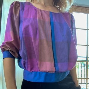 Vintage 80s Byer California Top with Back Buttons